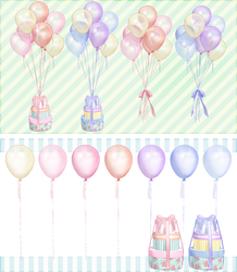 Balloon set of pearl color-Natsuka dl by MikuPirate