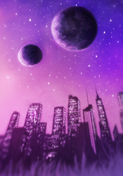 Starry Cityscape by Meep--Merp