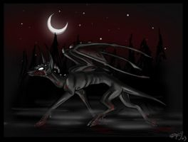 a HELL HOUND by miriel