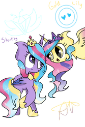 Princess Sterling and Princess Gold Lily by ThePegasisterPony
