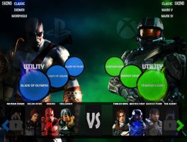 Xbox vs Playstation fighting game by w1haaa