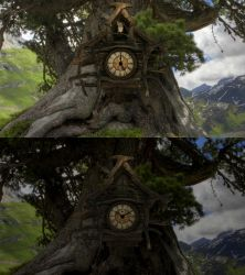 Forest Cuckoo 3D Clock for xwidget by Jimking