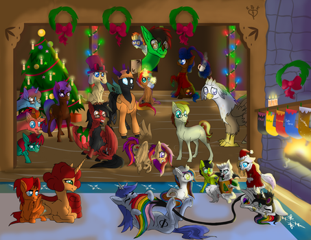 Merry Christmas from the Brony Analysis Community by Lightning-Bliss