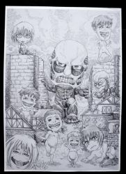 Attack on Titan pen drawing by Zzzeus