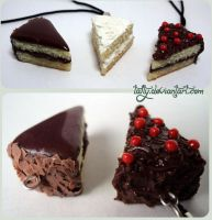 Polymer clay chocolate kekes by Talty