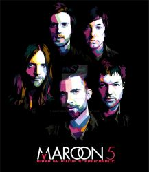 MAROON FIVE IN WPAP INDONESIA by Yusuf-Graphicoholic