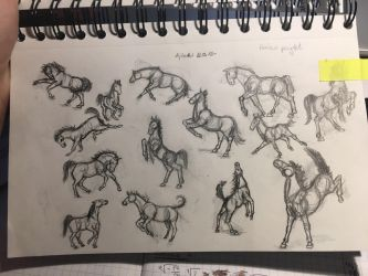 Horse poses by Lijtan