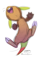 Chespin Can Climb! 8D by Bowtiefoxin