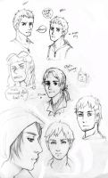 Assassin's Creed sketches by inu-steakcy