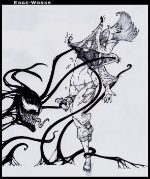Commission Hinata and Symbiote 2 by Edge-Works