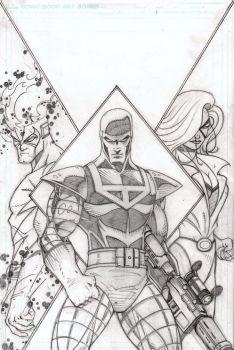 Cyberines Pencils by CliffEngland