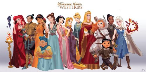 Disney Princesses as Game of Thrones by DjeDjehuti