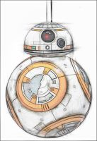 STAR WARS: The Force Awakens BB-8 drawing by cookimonstahlol