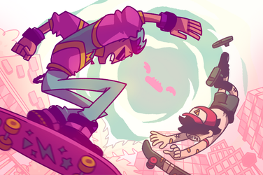 Cool Kid Cody and Pizza Boy by GreenMangos