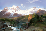 Study After Thomas Moran by Mandilor