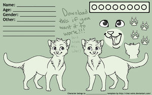 Free Cat Reference Sheet V2 by Chat-Noire