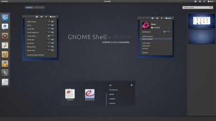 GNOME Shell  - Atolm by half-left
