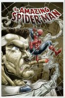 Spidey vs Jameson color by Vinz-el-Tabanas