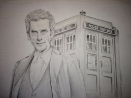 Doctor Who Peter Capaldi drawing by billyboyuk