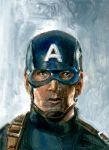 Captain America Sketch Card by Stungeon