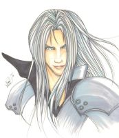 tryout 04 : Sephiroth?? by twinart