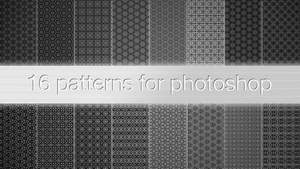 16 patterns for photoshop by Gamekiller48