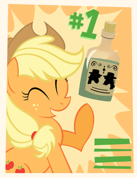 Applejack Loves Tonic by PixelKitties
