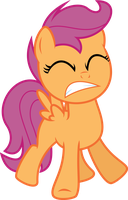 Scootaloo hears a buzzing sound by Yetioner