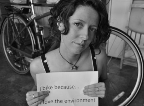 I Bike Because... by Tanager