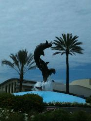 Aquarium of the Pacific dolphin statue by Dolphingurl21stuff