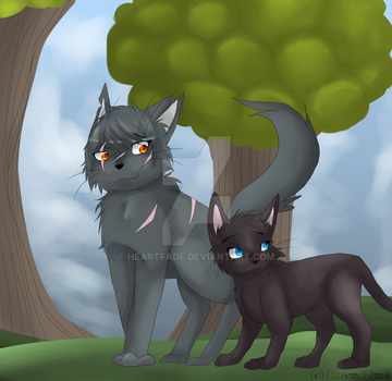 [Archive] Yellowfang and Cinderpelt by heartfade