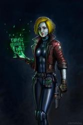 2095 - Android Technomancer by SirTiefling