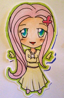 Chibi Fluttershy by chain-star