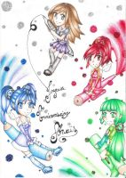 4 couloured chibi by Lexou-chan