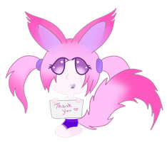 PinkFoxLogo-ThankYou by MissPinkFox