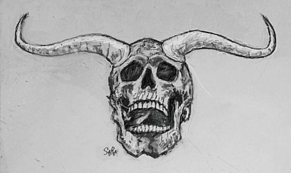 Skull with Horns by Art-Diversity