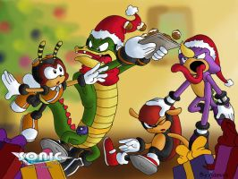 Chaotix X-Mas wallpaper by ThePandamis