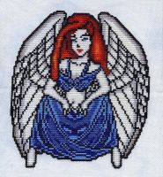 Gothic Angel Cross Stitch by RaNuit