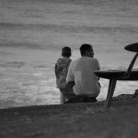 Father and Son - Looking at the sea by unifx