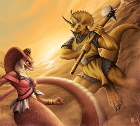 Serpent Versus Saurian by Nimrais