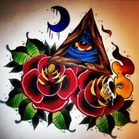 all seeing eye candle rose by jerrrroen