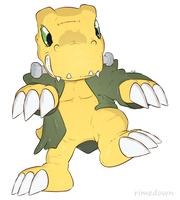 Spooky Agumon - Day 1557 by Seracfrost