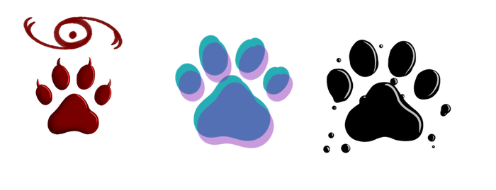 Character Pawprints by Riveriia