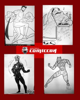 Montreal Comic Con Commissions by Inspector97