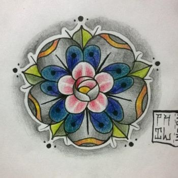 Flower Tattoo design by fil-nachard