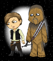 Solo and Chewy by kitkatnis