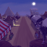 Desert Area Night by InuMimi