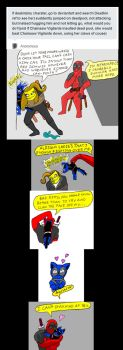 Chainsaw Vigilante and Deadpool comic #6 by arcanineryu