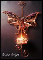 Gemstone Butterfly candle holder by illustrisdesigns