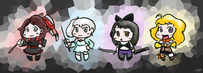 RWBY - Whiteboard Chibis by geek96boolean10